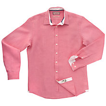 Buy Thomas Pink Malcolm Plain Long Sleeve Shirt, Pink Online at johnlewis.com