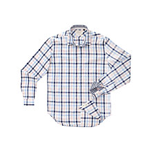 Buy Thomas Pink Proctor Check Long Sleeve Shirt, White/Pink Online at johnlewis.com
