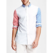 Buy Thomas Pink Malkin Check Button Cuff Shirt, Multi/White Online at johnlewis.com