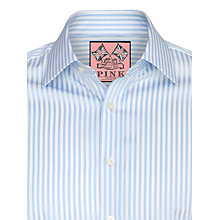 Buy Thomas Pink Algernon Stripe Long Sleeve Shirt, Pale Blue/White Online at johnlewis.com