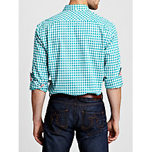 Buy Thomas Pink Malkin Check Button Cuff Shirt, Green/White Online at johnlewis.com