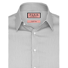 Buy Thomas Pink Lydiard Check Long Sleeve Shirt, Grey/White Online at johnlewis.com