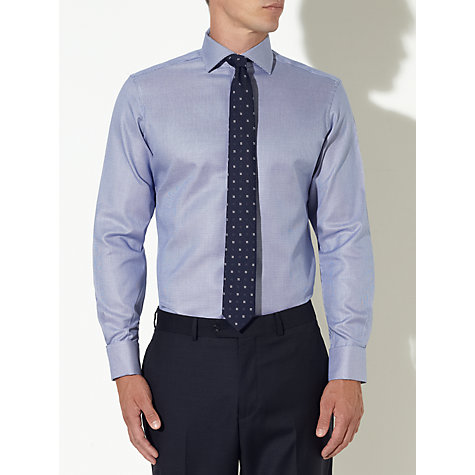 Buy John Lewis Luxury Houndstooth Shirt, Navy/White Online at johnlewis.com