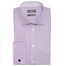 Buy John Lewis Luxury Houndstooth Shirt with Cufflinks, Purple Online at johnlewis.com