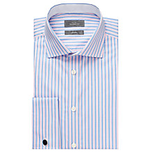 Buy John Lewis Luxury City Stripe Shirt, Blue/Pink Online at johnlewis.com