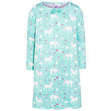 Buy John Lewis Girl Horse Print Nightdress, Aqua Online at johnlewis.com