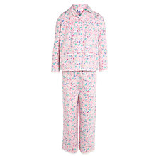 Buy John Lewis Girl Floral Print Cotton Pyjamas, Pink Online at johnlewis.com