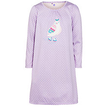 Buy John Lewis Girl Owl Applique Nightdress, Lilac Online at johnlewis.com