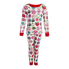 Buy Hatley Girl's Apple Long Sleeve Pyjamas, Cream Online at johnlewis.com