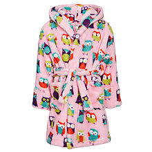 Buy Hatley Children's Owl Gown, Pink Online at johnlewis.com