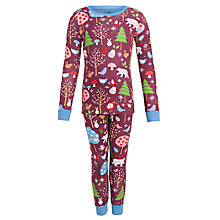 Buy Hatley Girls' Woodland Pyjamas, Red Online at johnlewis.com