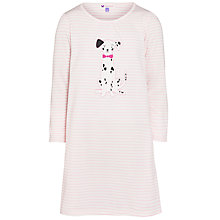 Buy John Lewis Girl Dog Applique Nightdress, Pink Online at johnlewis.com