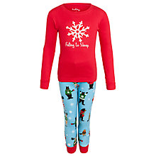 Buy Hatley Girls' Falling Asleep Pyjamas, Red Online at johnlewis.com