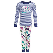 Buy Hatley Girls' Unforgettable Elephant Long Sleeve Pyjamas, Multi Online at johnlewis.com