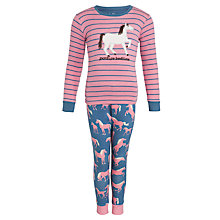 Buy Hatley Girls' Pasture Bedtime Long Sleeve Pyjamas, Pink Online at johnlewis.com