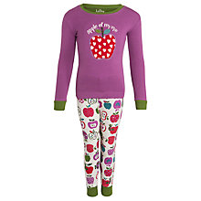 Buy Hatley Girls' Apple of My Eye Long Sleeve Pyjamas, Pink Online at johnlewis.com
