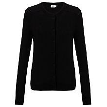 Buy Kin by John Lewis Cotton Cardigan, Black Online at johnlewis.com