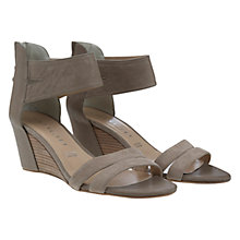 Buy Mint Velvet Gemma Suede Wedge Heel Sandals, Taupe Online at johnlewis.com