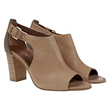 Buy Mint Velvet Aria Leather Block Heel Shoe Boots, Nude Online at johnlewis.com
