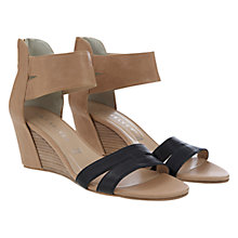 Buy Mint Velvet Gemma Leather Wedge Heel Sandals, Nude Online at johnlewis.com