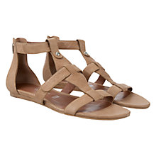 Buy Mint Velvet Kasia Three Strap Leather Sandals, Brown Online at johnlewis.com