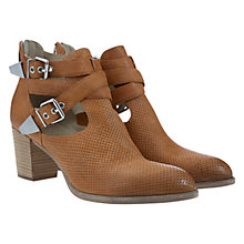 Buy Mint Velvet Jessica Leather Block Heel Ankle Boots, Tan Online at johnlewis.com