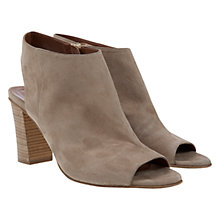 Buy Mint Velvet Lyla Suede Open Back Shoe Boots, Taupe Online at johnlewis.com