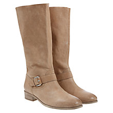 Buy Mint Velvet Pippa Leather Block Heel Calf Boots, Nude Online at johnlewis.com