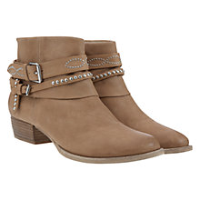 Buy Mint Velvet Lucy Leather Studded Ankle Boots, Nude Online at johnlewis.com