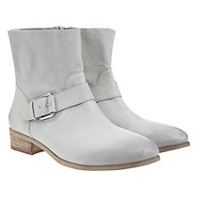 Buy Mint Velvet Verity Leather Airtex Panel Ankle Boots, Stone Online at johnlewis.com