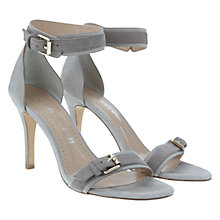 Buy Mint Velvet Lara Suede Double Buckled Stiletto Sandals, Grey Online at johnlewis.com
