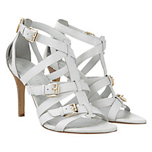 Buy Mint Velvet Gina Leather Strappy Stiletto Sandals, White Online at johnlewis.com