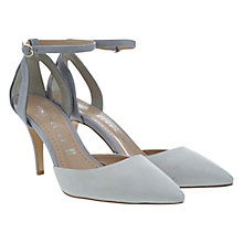 Buy Mint Velvet Alexa Suede Cutaway Court Shoes, Stone Online at johnlewis.com