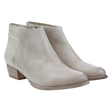 Buy Mint Velvet Eliza Nubuck Ankle Boots, Stone Online at johnlewis.com