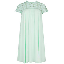 Buy Ted Baker Morelle High Neck Mesh Detail Dress, Pale Green Online at johnlewis.com