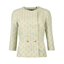 Buy Ted Baker Ruta Geo Suit Jacket, Pale Green Online at johnlewis.com