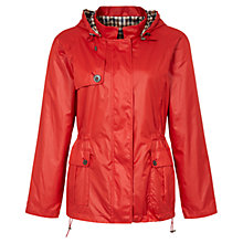 Buy Aquascutum Club Check Reversible Hooded Jacket, Red Online at johnlewis.com
