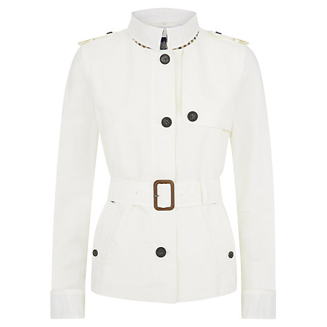 Buy Aquascutum Short Belted Trench Coat Online at johnlewis.com