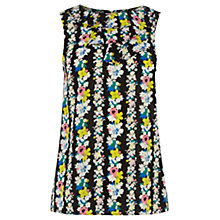 Buy Oasis Floral Print Shell Top, Multi Black Online at johnlewis.com