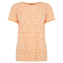 Buy Warehouse Printed Burnout Top, Coral Online at johnlewis.com