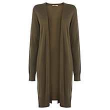 Buy Oasis Edge to Edge Cardigan, Khaki Online at johnlewis.com