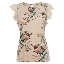 Buy Oasis Oriental Print Top, Multi Natural Online at johnlewis.com