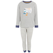 Buy John Lewis Boy Dog Motif Pyjamas, Grey Online at johnlewis.com