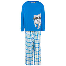 Buy John Lewis Boy Raccoon Motif Pyjamas, Blue Online at johnlewis.com