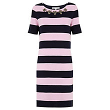 Buy Fenn Wright Manson Peyton Merino Wool Dress, Pink/Navy Online at johnlewis.com
