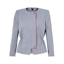 Buy NW3 By Hobbs Matelasse Boxy Jacket, Rain Blue Online at johnlewis.com