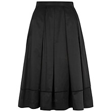 Buy Hobbs Justine A-Line Flared Skirt, Black Online at johnlewis.com
