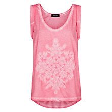 Buy Mango Embroidered Washed T-Shirt Online at johnlewis.com
