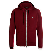 Buy John Smedley Zip Up Merino Hooded Sweatshirt, Bordeaux Online at johnlewis.com