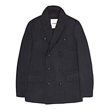 Buy Ben Sherman Shawl Collar Peacoat, Grey Online at johnlewis.com